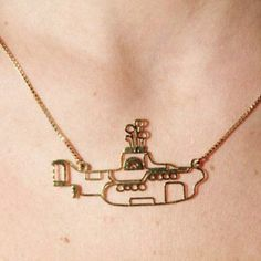 I want this 'Yellow Submarine' necklace!