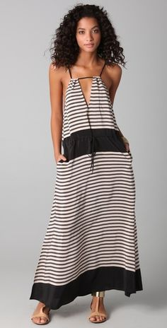 Dolce Vita - Lily Striped Dress (Black and White)     *Summer*