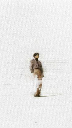 — junmyeon: 'self-portrait' paintings . Iphone Wallpaper Vsco, Hippie Wallpaper, Exo Stickers, Aesthetic Lockscreens, Exo Lockscreen, Exo Xiumin, Kpop Fanart, Cute Wallpapers, Aesthetic Wallpapers