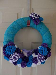 Spring Wreath  Summer Wreath  Felt Flowers by BlueHouseDesignz, $50.00