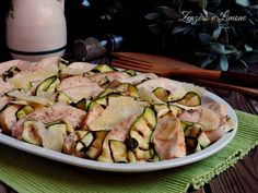 Light Recipes, Carne, Food Art, Potato Salad, Zucchini, Chicken, Vegetables, Cooking, Ethnic Recipes
