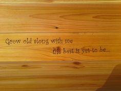 Cedar bench quote