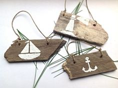 love this etsy store and everything in it! sailboat ornaments
