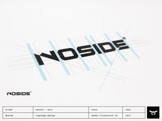 Custom logotype design for French production and post production studio Noside, producing, direct and post-post produce TV and viral commercials for clients such as L'Oréal, Adobe, Dior, Nestle, Ci...