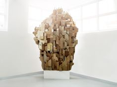 Artist Nina Lindgren created this amazing sculpture from cardboard called Cardboard Heaven.