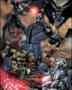 Darkseid Dc, Marvel Dc, Marvel Comics, Zack Snyder Justice League, Superman Artwork, Avengers Alliance, Dc Rebirth, Dc Comics Art, Batman Vs