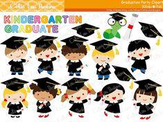 Graduation Party Clipart ,Graduate boys and girls Clip art / INSTANT DOWNLOAD (CG150)