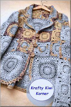 Crochet Vintage-Inspired 70s Granny Squares by KraftytKiwiKorner