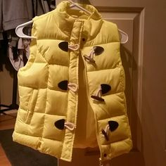 Vest Brand new never worn yellow warm vest jcpenney Jackets & Coats