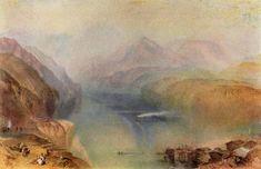 """Lago Lucerna"". (by Joseph Mallord William Turner)."