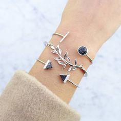Indie Silver Jonc Bracelet - Majolie - 1