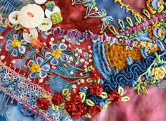 I ❤ crazy quilting . . . by brighid of Getting Older Blog (a member of stitchin fingers)