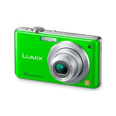 Panasonic Goes Green With It's Lime Green Lumix DMC-FS7! | TheGloss ❤ liked on Polyvore