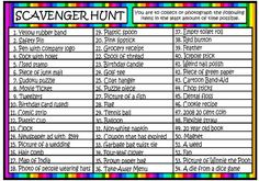 Outdoor party games for teens night scavenger hunts 68 Ideas Scavenger Hunt Riddles, Outdoor Scavenger Hunts, Scavenger Hunt Birthday, Photo Scavenger Hunt, Scavenger Hunt For Kids, Christmas Games For Family, Christmas Party Games, Family Games, Outdoor Games For Teenagers