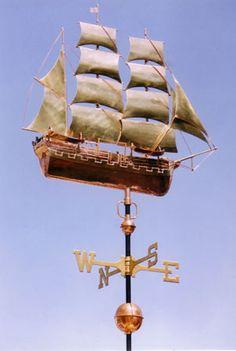 Whaling Ship Charles Morgan Sailboat Weathervane - Custom