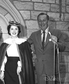 Shirley Temple & Walt Disney opening of Sleeping Beauty's Castle
