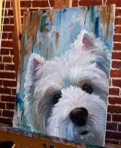 westie on canvas