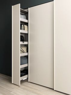 Sliding wardrobe for shoe storage