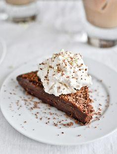 No Bake Milk Chocolate Bailey's Truffle Cake . howsweeteats.com .