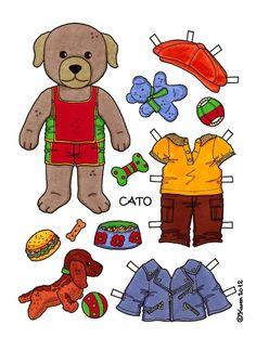 Cato Paper Doll to Print in Colours. Cato påklædningsdukke til at printe i farver. - Karen Bisgaard Petersen - Picasa Web Albums