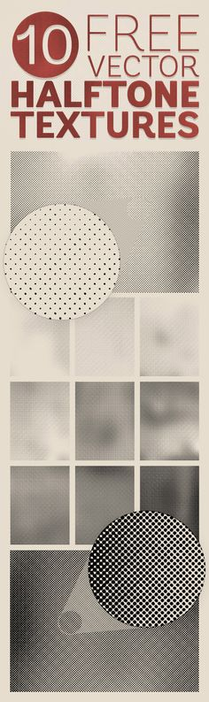 Halftone textures are fantastic resources for creating retro print effects by simply overlaying the dot patterns over your solid colour artwork. I shared a pack of distressed halftone patterns last year, which featured a range of uniform halftone screens of various densities. This time, I've created a new series of vector textures with gradual changes …