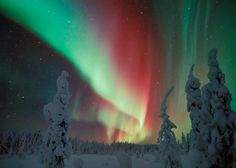 In this amazing capture, we see the Northern Lights (aurora borealis) as seen from Lapland, the largest and northernmost region of Finland. Northern Lights Finland, See The Northern Lights, Aurora Borealis, Beautiful Sky, Beautiful World, Beautiful Scenery, Beautiful Landscapes, Belle Image Nature, Photo Voyage