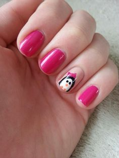Penguin nails. Done by me.
