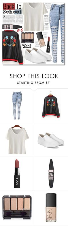 """Back To School Outfit Ideas #5 - yoins (Hello September)"" by elizabeth4ever ❤ liked on Polyvore featuring Kershaw, Maybelline, NARS Cosmetics, yoins, yoinscollection and loveyoins"