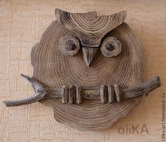 Fair Masters - p . - Wood How to Crafts Wooden Art, Wooden Crafts, Wood Wall Art, Wooden Desk, Driftwood Projects, Driftwood Art, Wood Owls, Owl Crafts, Wooden Animals