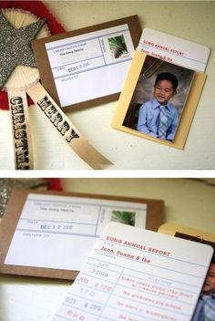 library card Christmas cards.....oh i'd love to do this for this year.  better start working on them now!