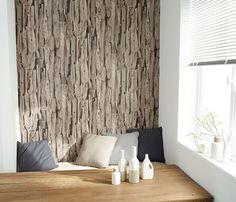 un authentique bois dans la chambre avec ce papier peint. Black Bedroom Furniture Sets. Home Design Ideas