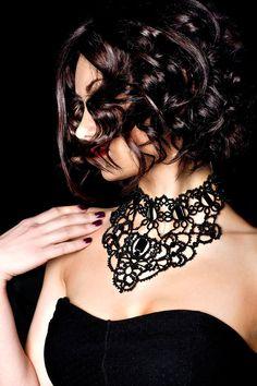 Victorian Jewelry Tatting Crochet Lace by DASHARTSTUDIO