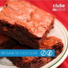 Que tal um brownie de chocolate zero glúten e zero lactose? Esse é uma delícia…