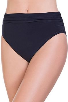 1a9deedd99326 Magicsuit Women's Jersey Shirred Breif Swim Bottom, Black, 8 at Amazon  Women's Clothing store: