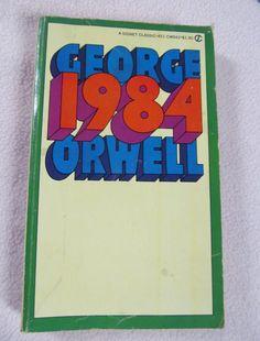 George Orwell 1984 Paperback Book Signet Classic 60s Political Diagnostic Eric Blair  ReVintageLannie.Etsy.com