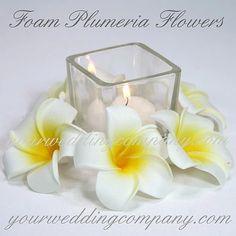 Plumeria (Frangipani) Foam Flower Accents | Wedding Beach Flowers