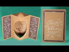 Handmade New Year Card - DIY Tunnel New Year Greeting Card Tutorial - YouTube