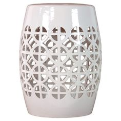 Ceramic Indoor/outdoor Garden Stool With Openwork Detail. Product: Garden  StoolConstruction Material: