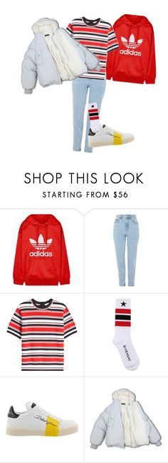 """""""Outfit for winter"""" by elzikaa on Polyvore featuring adidas Originals, Topshop, Marc Jacobs, Givenchy, Dolce&Gabbana and Puffa"""