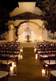 Candle lit wedding...beautiful