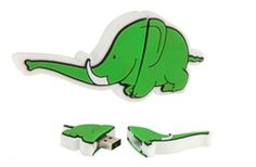 Chiavette usb personalizzate con logo | Chiavette usb pronta consegna   #usb #gadgetsaziendali #italia #mondo #elefante #verde