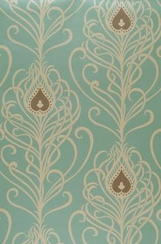 Wallpaper...pretty for bedroom accent wall