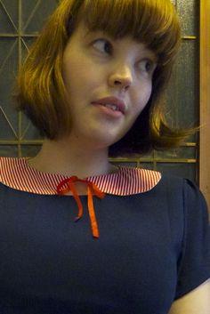 reversible peter pan collar tutorial. Looks like we're on to a winner!