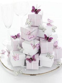 Lilac/Lavender Wedding Favor Box