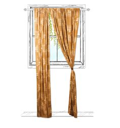 Mustard Curtain (One Panel)