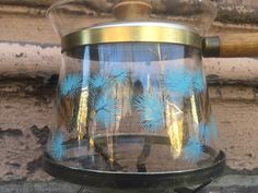 Large Libby Glass Jar /& Lid ~ Pine Cones /& Greenery