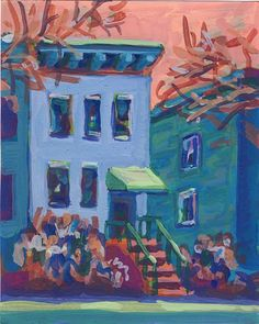 Blue House - painted by John Lloyd -www.johnll.com