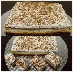 Prajitura Spaniola Romanian Desserts, Romanian Food, Sweets Recipes, Just Desserts, Cake Recipes, Pecan Bars, Dessert Drinks, Diy Food, Vanilla Cake