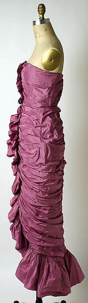 Evening dress Bill Blass 1979 American silk