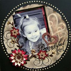 Beautiful Girl ~ Love the round shape and circle border!